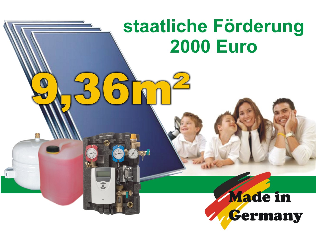 solaranlage komplettpaket flachkollektoren cmk solarpaket bafa 10 m ebay. Black Bedroom Furniture Sets. Home Design Ideas