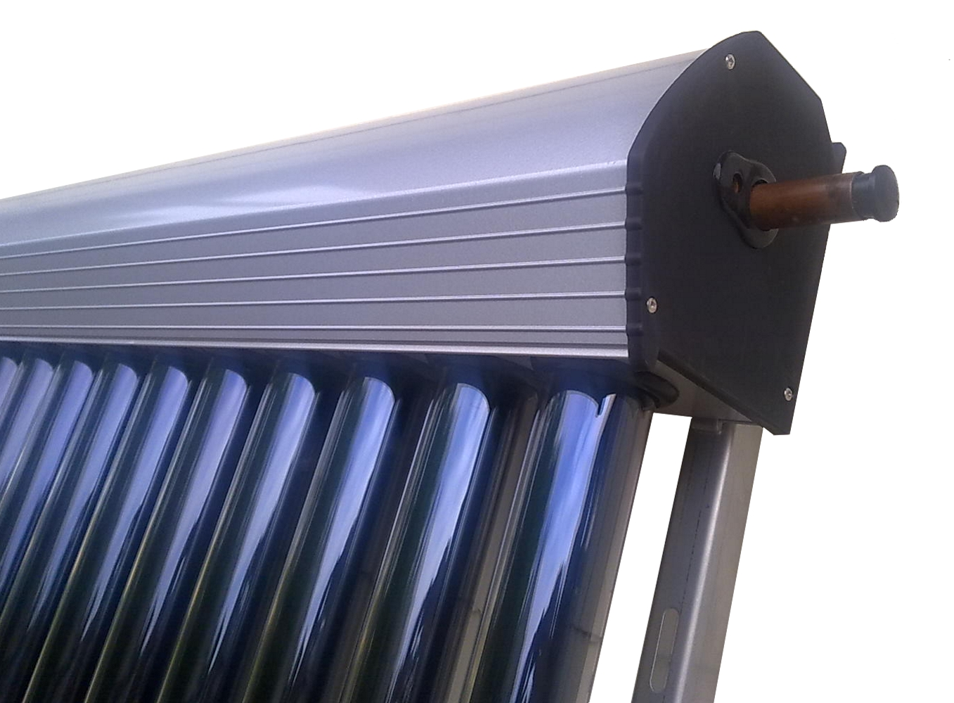 solaranlage vakuumr hren kollektor komplett bafa 9 m ebay. Black Bedroom Furniture Sets. Home Design Ideas