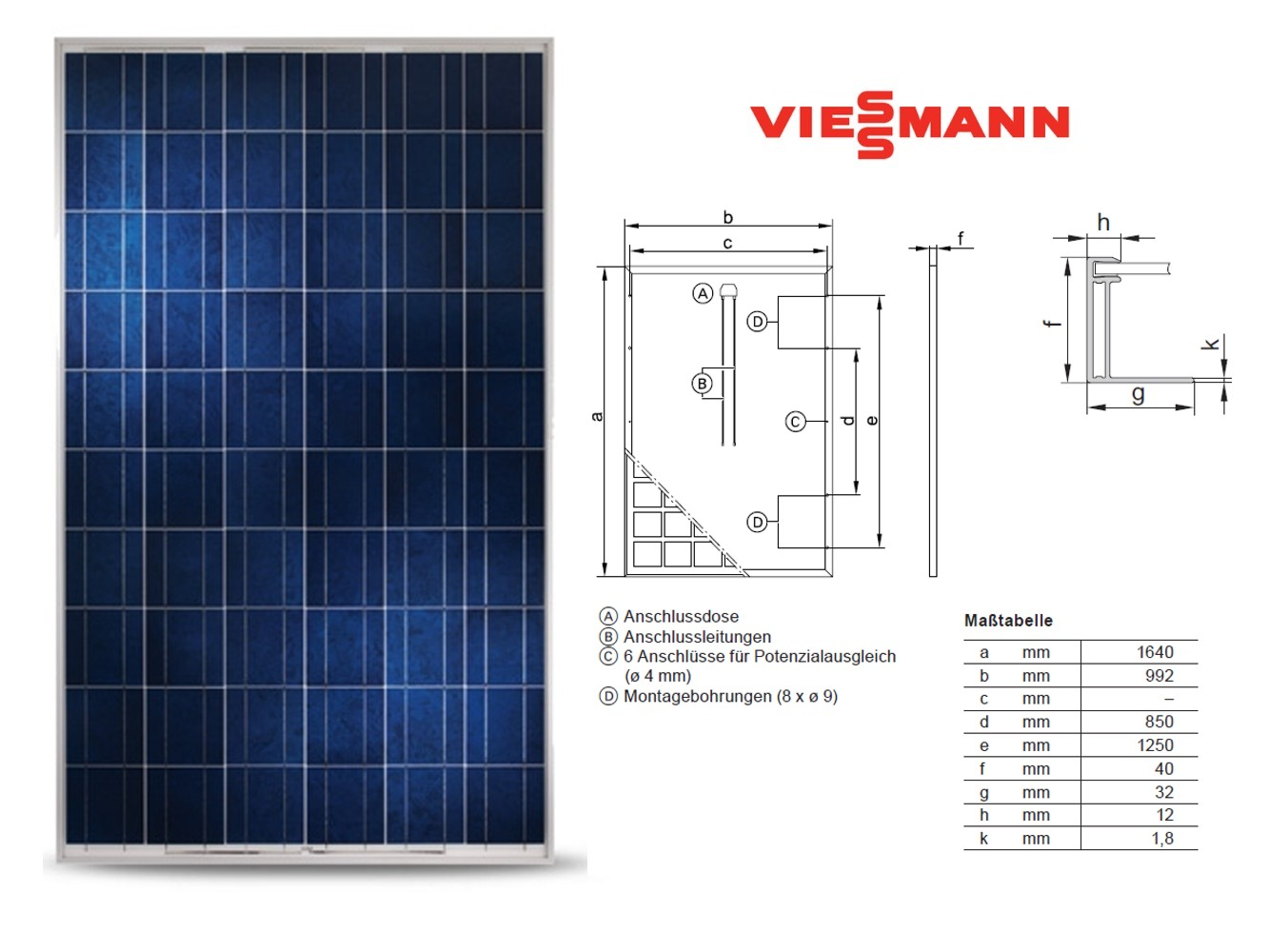 photovoltaikanlage 1 56kwp solaranlage pv solarbausatz 6. Black Bedroom Furniture Sets. Home Design Ideas